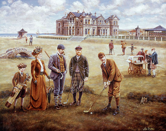 Saint andrews golf course mural lee dubin murals your way for Extra mural courses