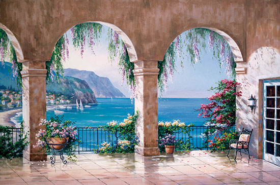 mediterranean arch mural related keywords amp suggestions for italian murals