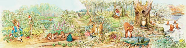 Beatrix potter murals murals your way for Beatrix potter wall mural