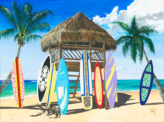 Surfing wall murals the ultimate surf wallpaper for Beach mural wall