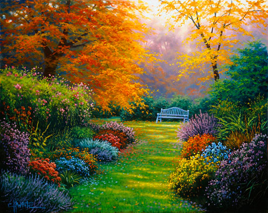 Garden Theme Wallpaper Murals Great Kitchen D Cor Idea