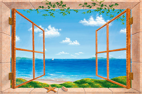 Beach dreaming mural for Beach window mural
