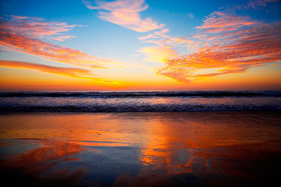 Sunrise surfers paradise mural for Beach sunset mural