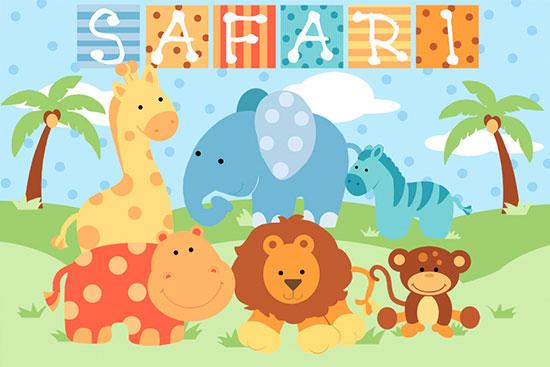 Baby safari boy mural janet skiles murals your way for Baby jungle mural