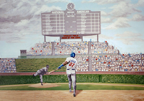 Sports murals murals your way for Baseball stadium mural wallpaper