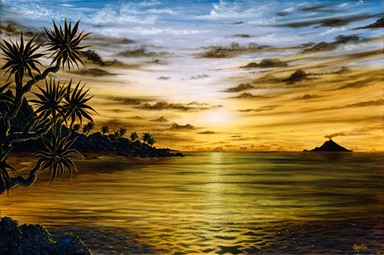 Sunrise sunset mural for Beach sunset mural