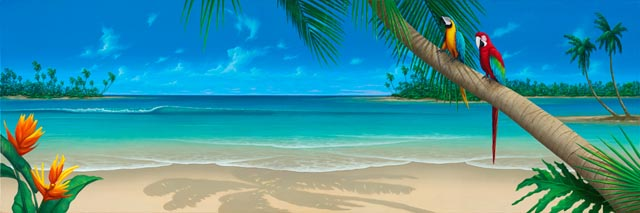 Scenery wallpaper beach scene room wallpaper for Beach scene mural wallpaper