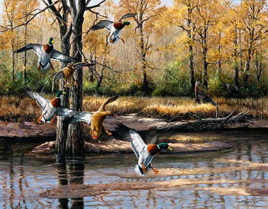 ducks murals murals your way hunting wall murals 2017 grasscloth wallpaper