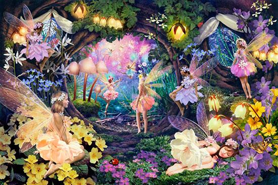 Fairy Room Theme Fairies Pixies Cherubs Fantasy Wall