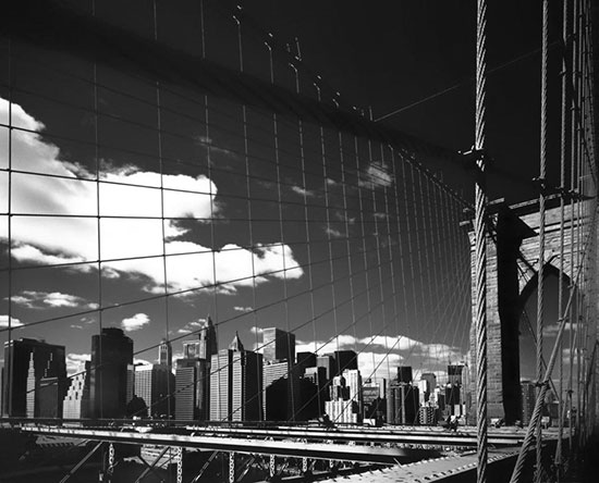 Brooklyn bridge lower manhattan mural for Brooklyn bridge black and white wall mural
