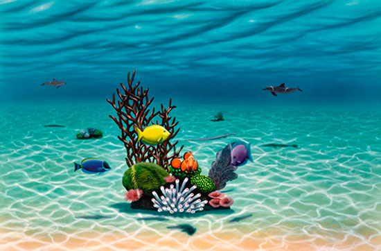 underwater sealife boys murals murals your way